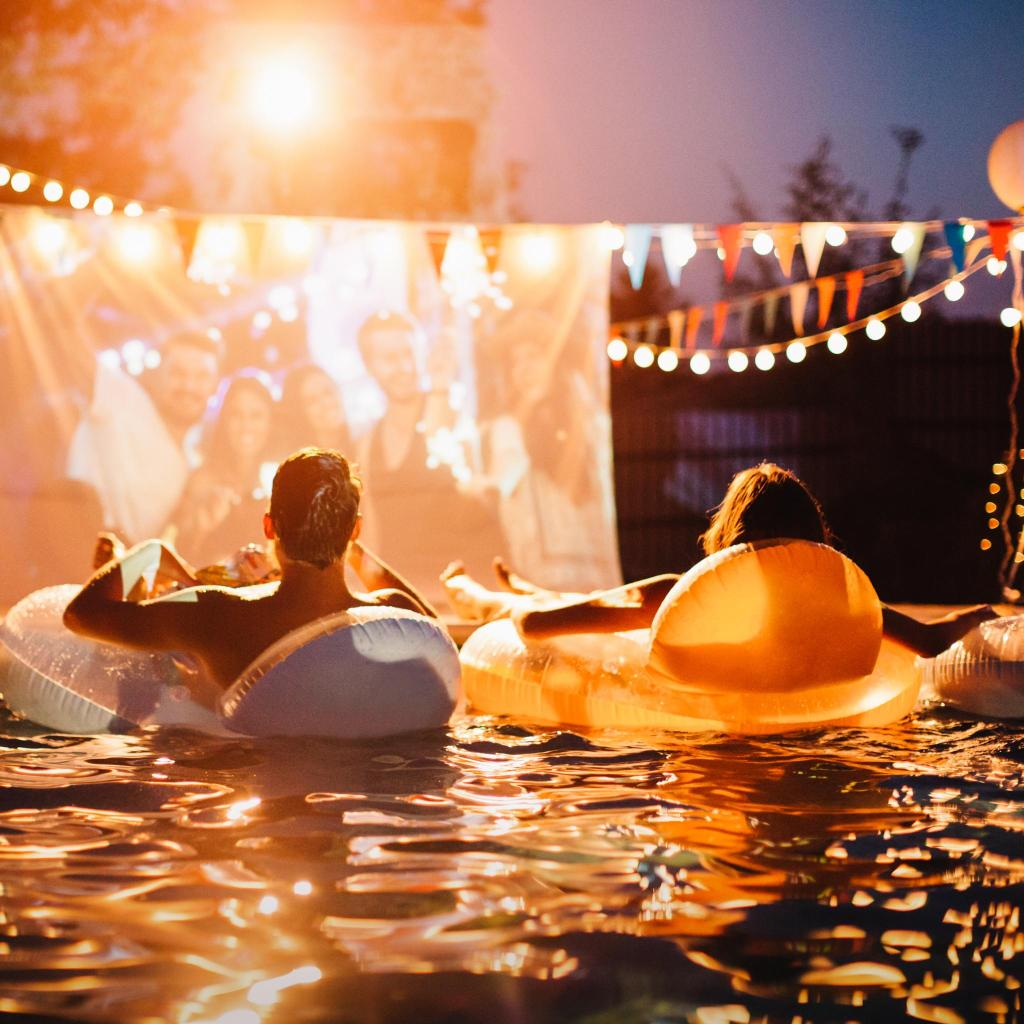 Hot Tub Cinema even comes with waiters