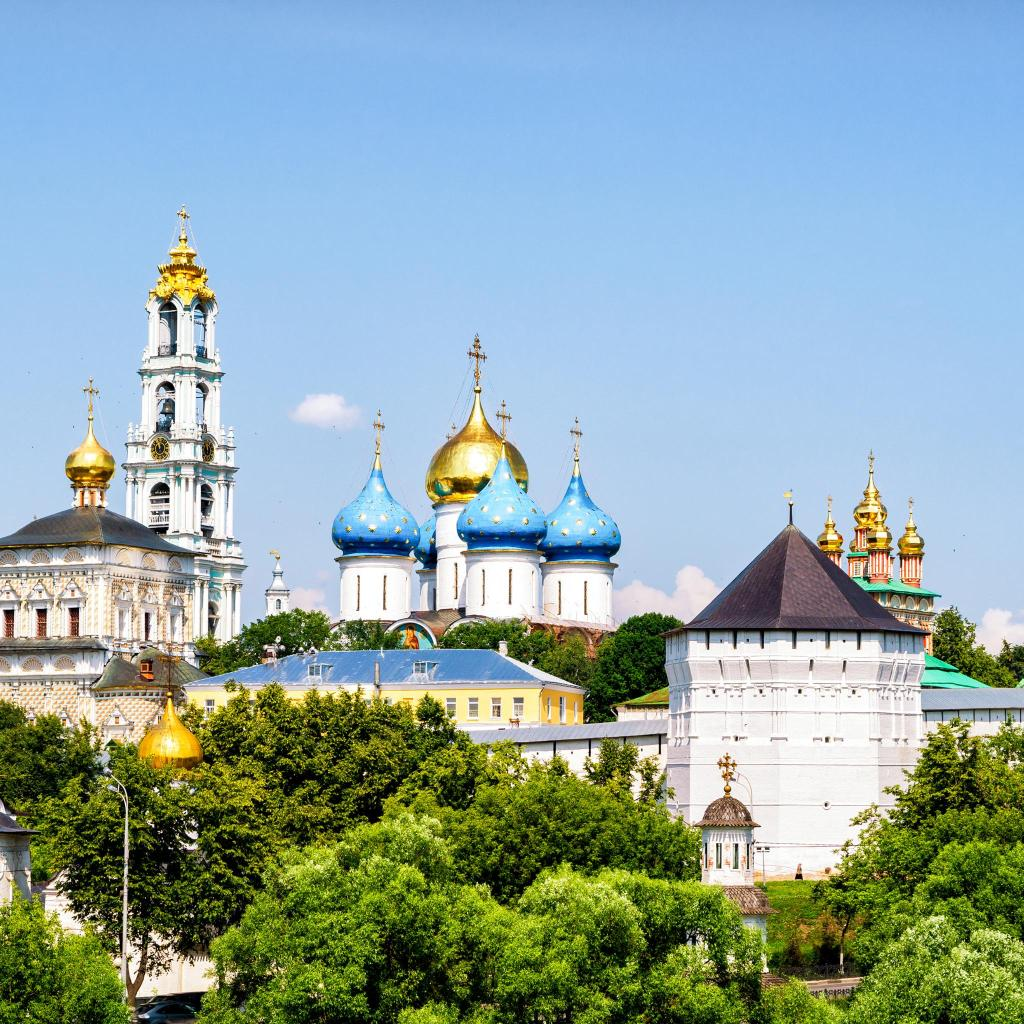 Founded in 1337, the Trinity Lavra of St. Sergius is home to over 300 monks