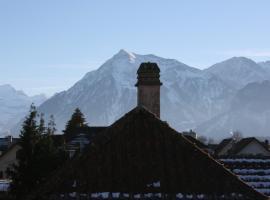 Bed and Breakfast mit Balkon und Bergsicht, Thun