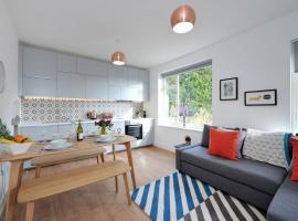 Crisp, Contemporary Apartment, Bath