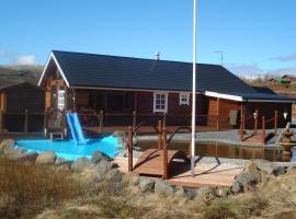 Glæsibær Luxury Summerhouse with Hot Tub and Sauna, Búrfell