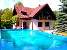 Dom z basenem, Lutol Mokry