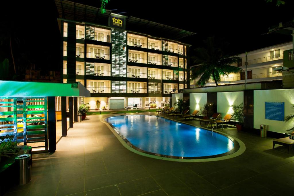 The swimming pool at or near FabHotel Prime The King's Court