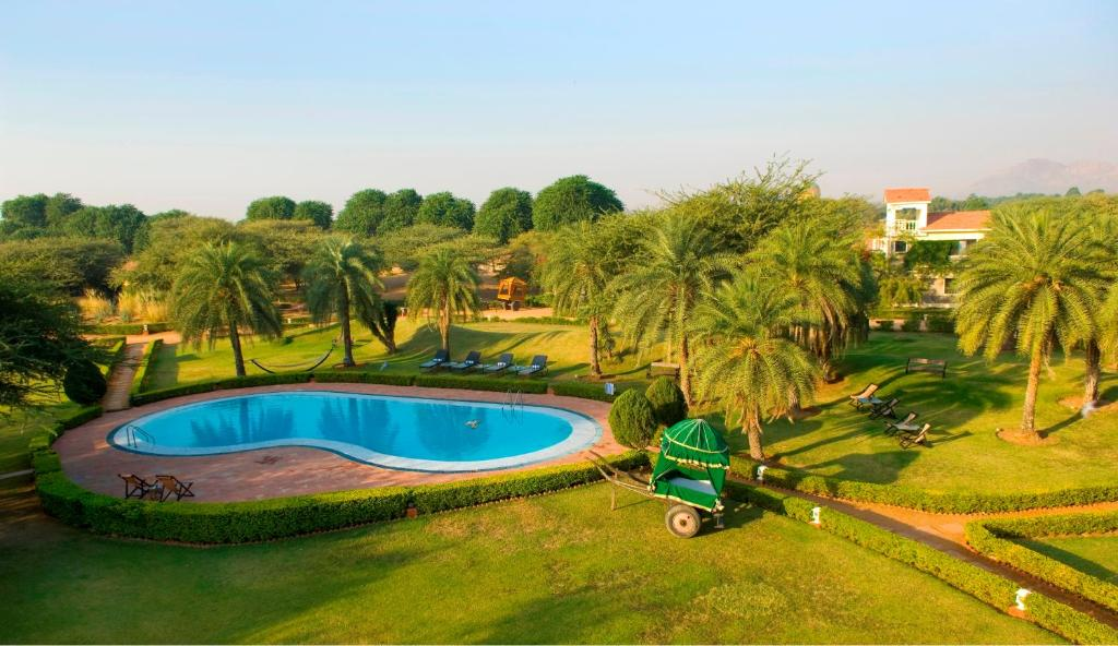 A view of the pool at Pushkar Resort or nearby