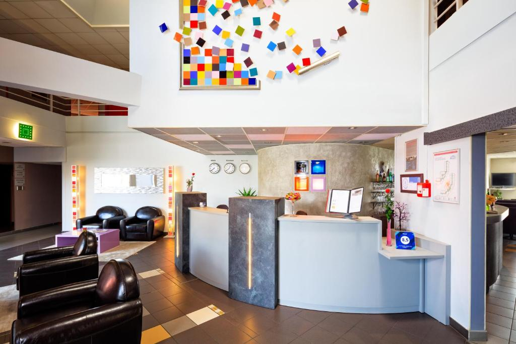 The lobby or reception area at Octel