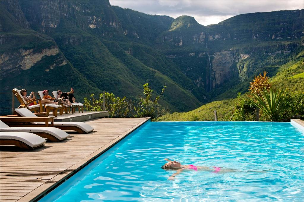The swimming pool at or near Gocta Andes Lodge