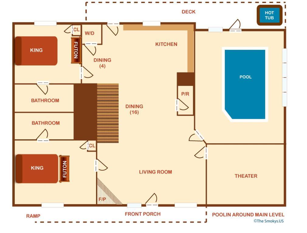 Vacation home poolin 39 around six bedroom cosby tn for Poolin around cabin gatlinburg tn