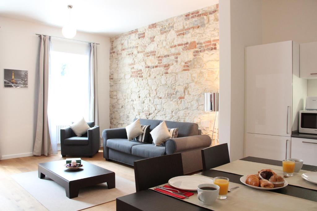 A seating area at MH Apartments Central Prague