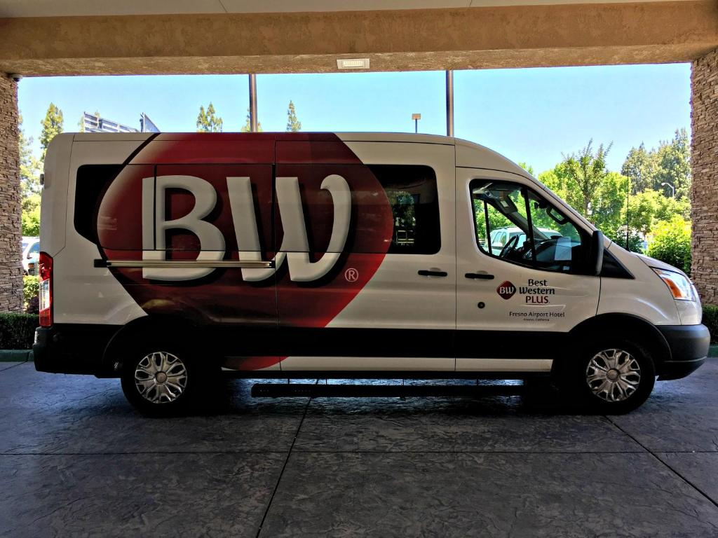 Shuttle bus at the Best Western Plus Fresno Airport Hotel.