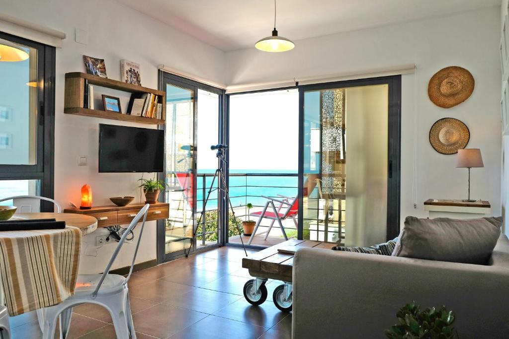 A seating area at El Morche Beach
