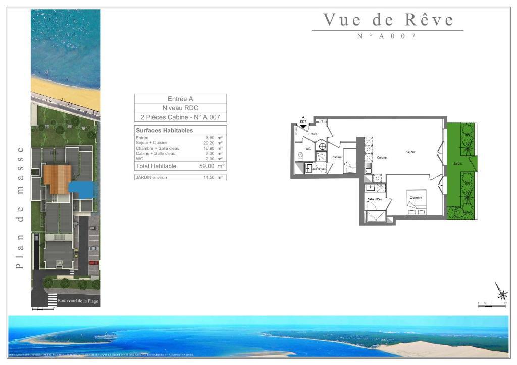 Residence vue de reve 1 ere ligne de plage arcachon for Hotel de reve france