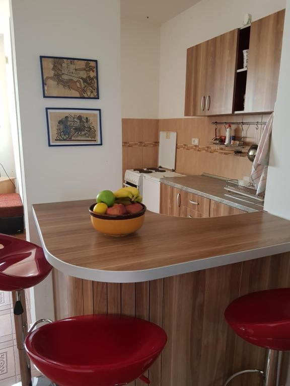 A kitchen or kitchenette at Apartments Igumnovic