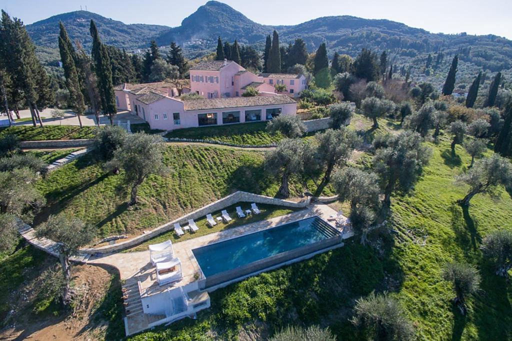 A bird's-eye view of The Courti Estate