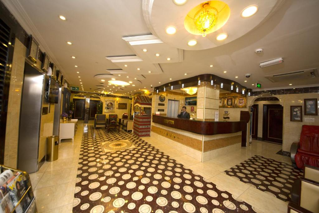 The lobby or reception area at Grand Sina Hotel