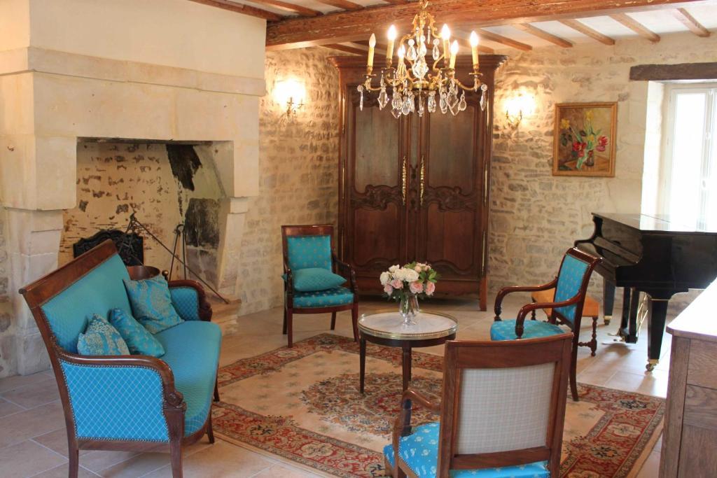Coin salon dans l'établissement Manoir de l'Oseraie