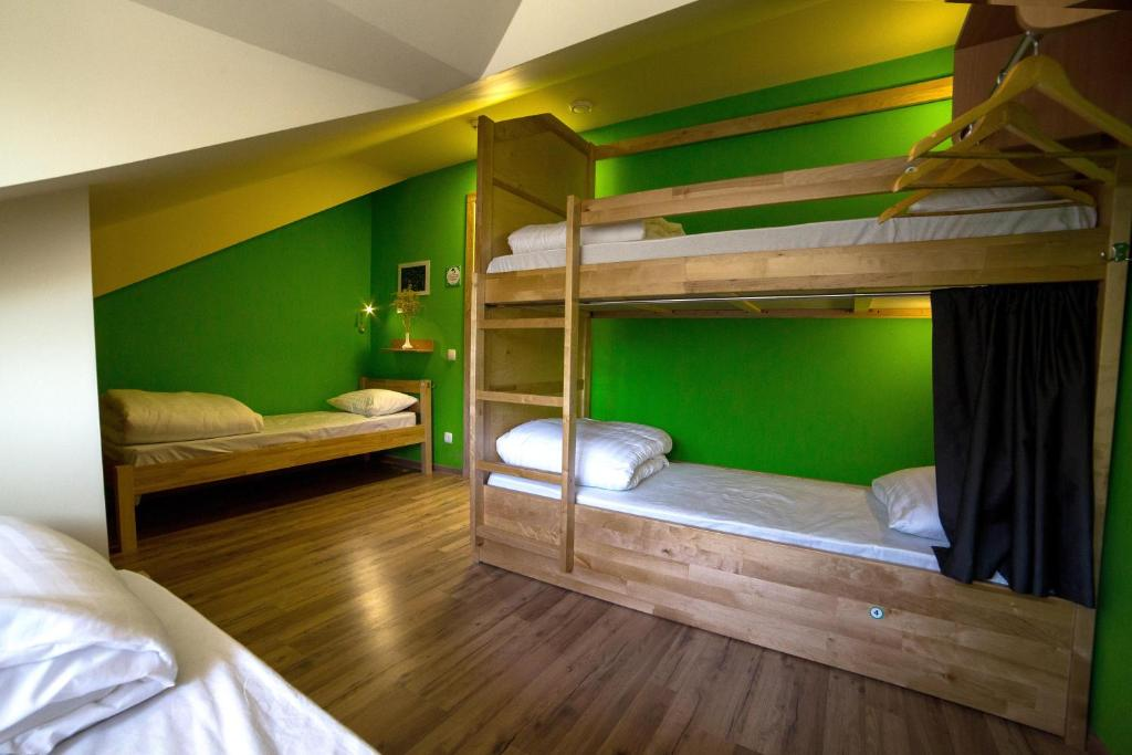 A bunk bed or bunk beds in a room at DREAM Hostel Poltava