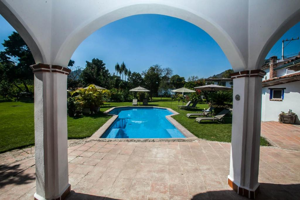 The swimming pool at or near Casa Flor de Mayo