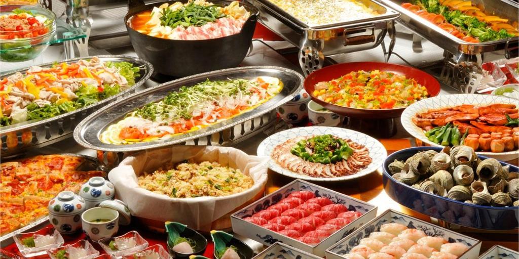 ポイント2.和洋中と揃った豪華食事の数々◎