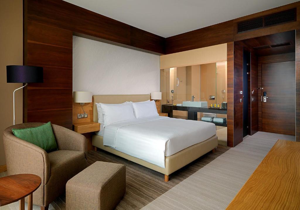 Кровать или кровати в номере Voronezh Marriott Hotel