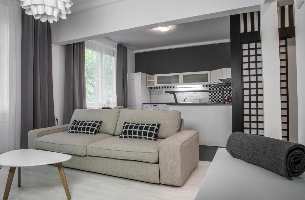 A seating area at Apartment Kosicka