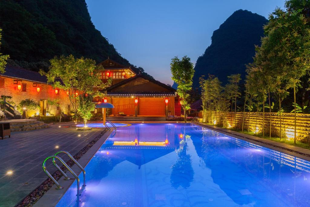 The swimming pool at or near Yangshuo Ancient Garden Boutique Hotel