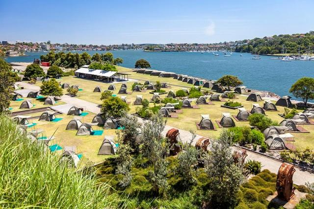 Campground Cockatoo Island Accommodation Sydney Australia