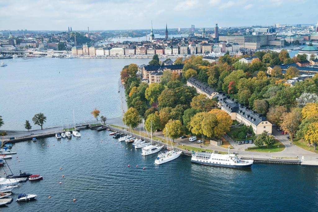 A bird's-eye view of Hotel Skeppsholmen