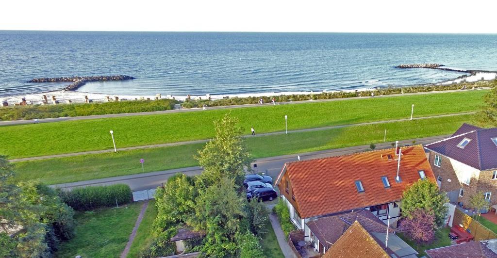 A bird's-eye view of Meerblick Apartment Bünning