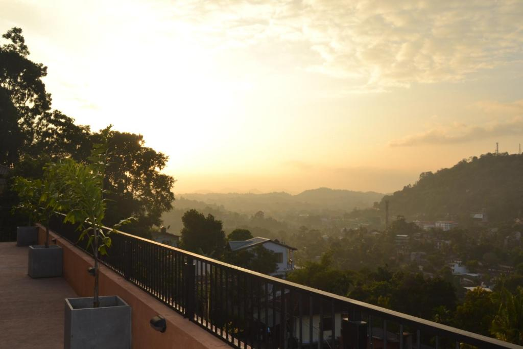 The sunrise or sunset as seen from the homestay or nearby