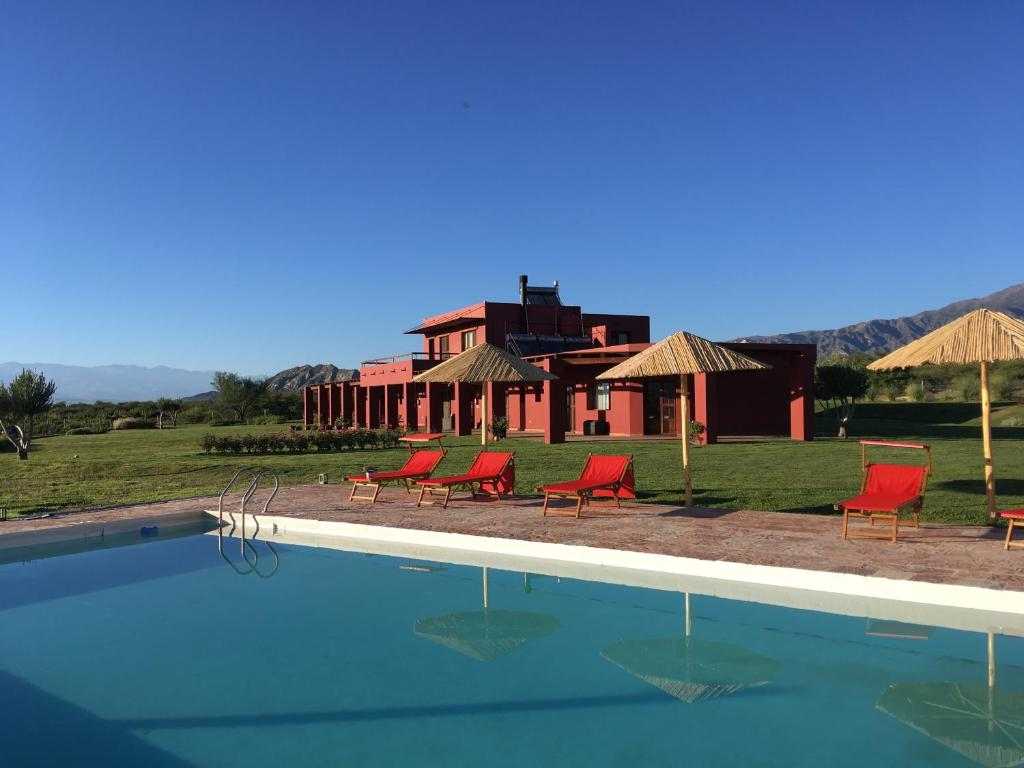 The swimming pool at or near Finca Albarossa