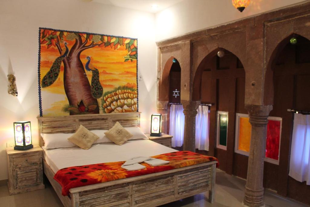 Cama o camas de una habitación en Karma heritage Guest House