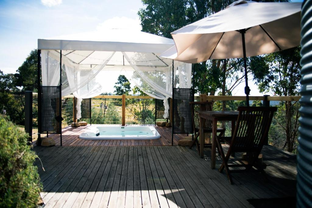The swimming pool at or close to Avalon Private Spa Villa with Beautiful Tree Views