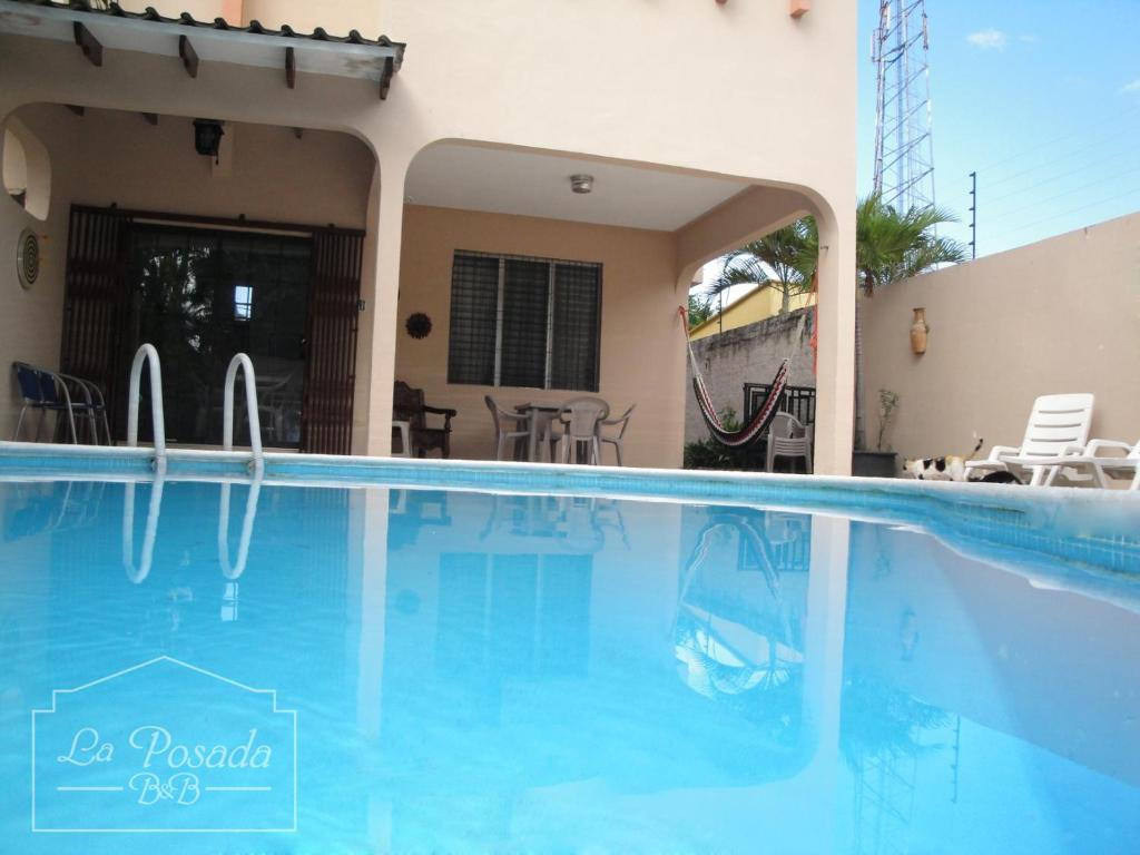 The swimming pool at or near La Posada B&B