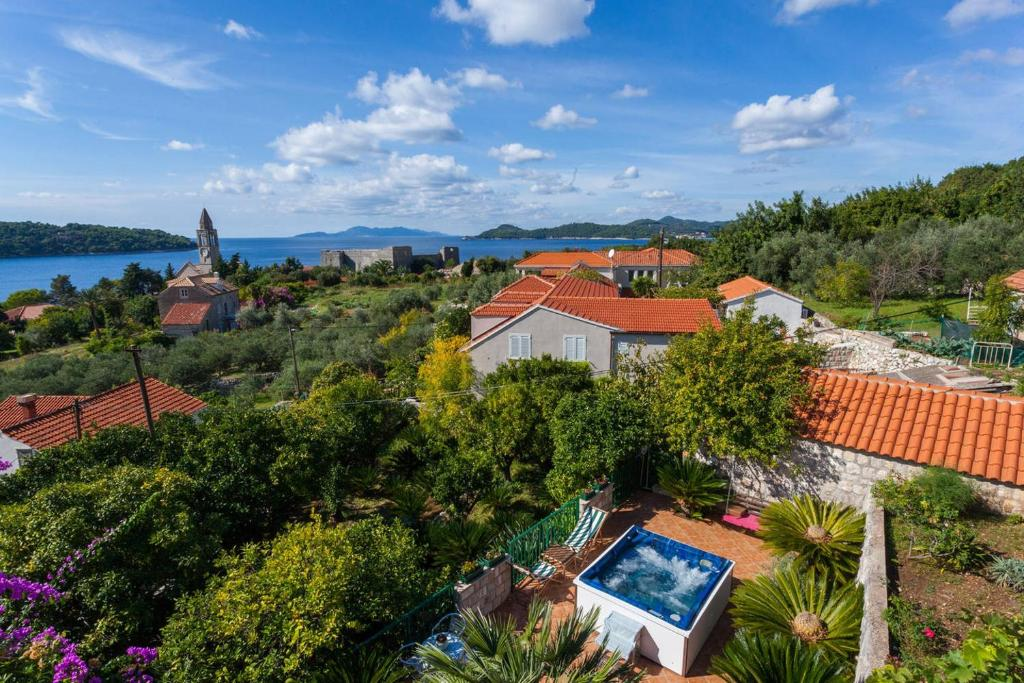 A bird's-eye view of Villa Aska