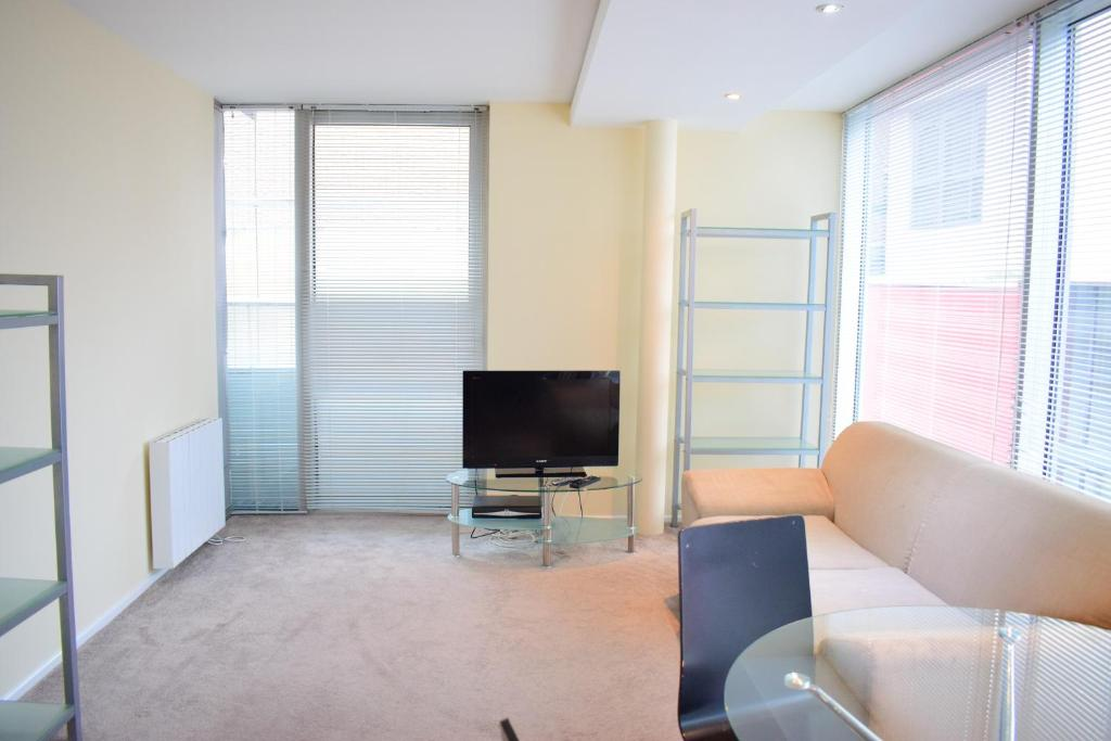 A television and/or entertainment center at 2 Bedroom Apartment in the Heart of Stratford Sleeps 3