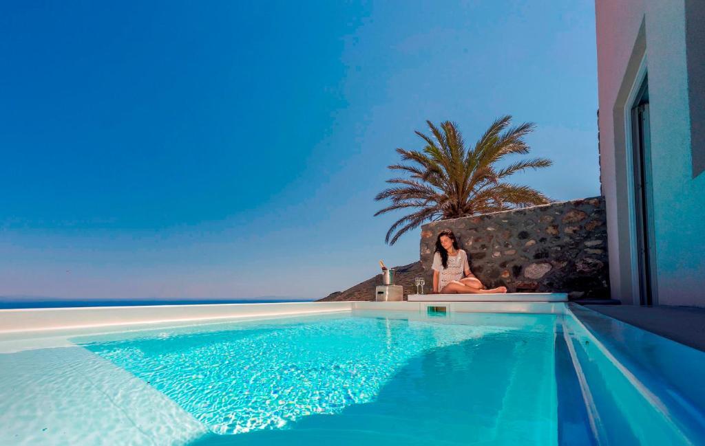 The swimming pool at or near Elysian Santorini