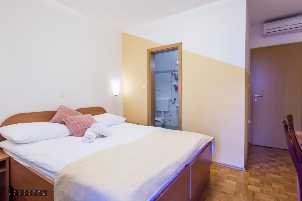 Lova arba lovos apgyvendinimo įstaigoje Guesthouse Kolesar