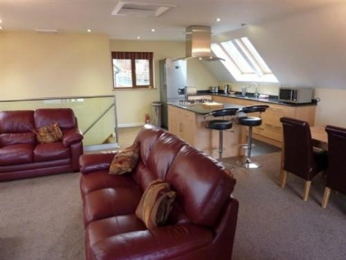 A seating area at Elderbeck Lodge, Pooley Bridge Holiday Park