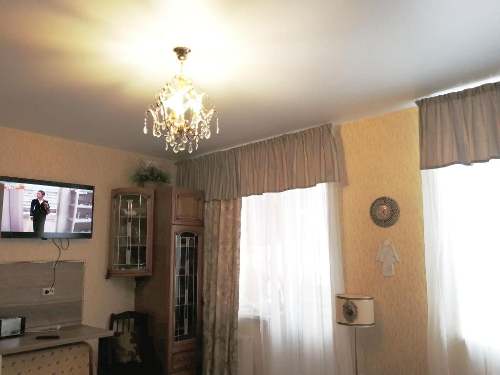 TV o dispositivi per l'intrattenimento presso Apartment Petrodvorets