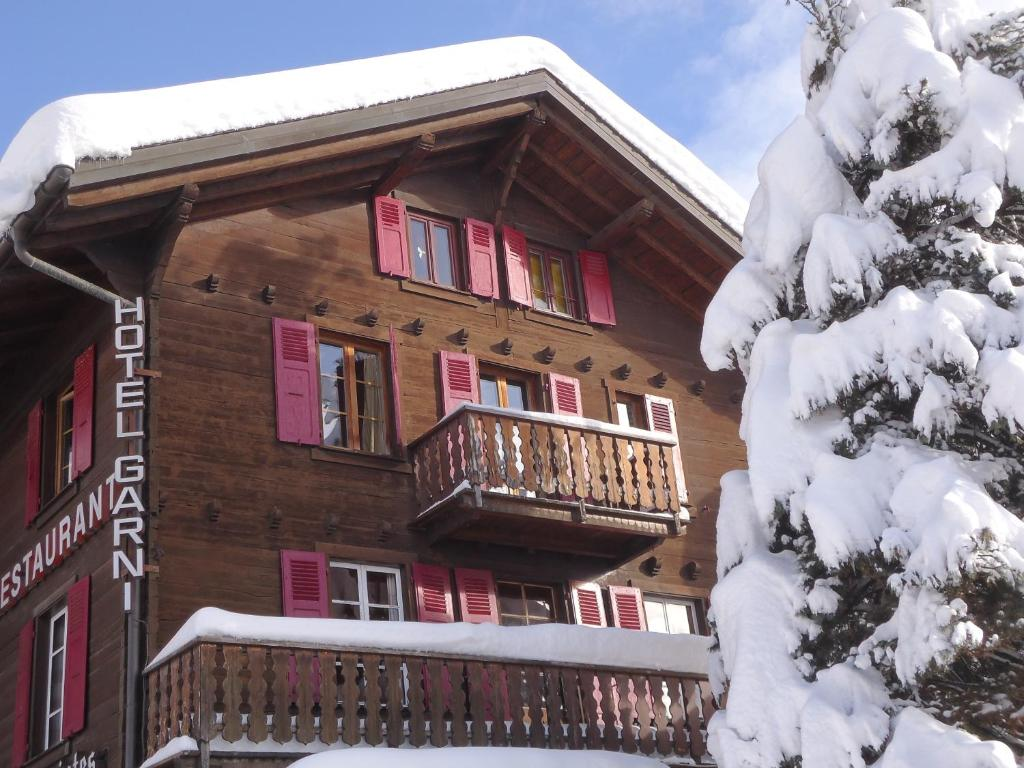 Hotel les Touristes during the winter