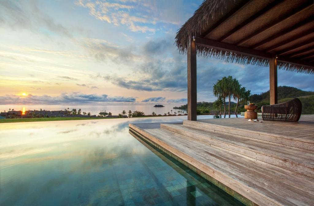 The swimming pool at or near Six Senses Fiji