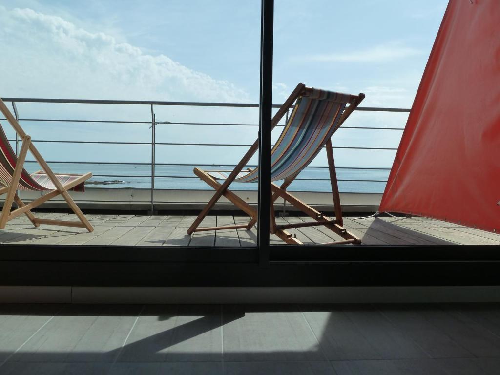 Balcon ou terrasse dans l'établissement Villa Océan - B&B vue Mer