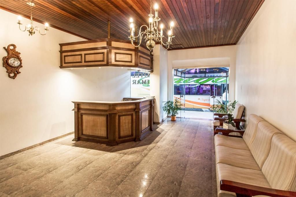 The lobby or reception area at Hotel Kimar
