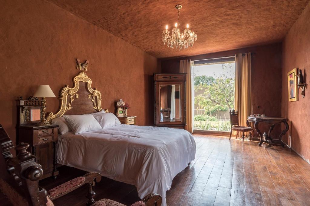 Un ou plusieurs lits dans un hébergement de l'établissement Moche Sanctuary Lodge