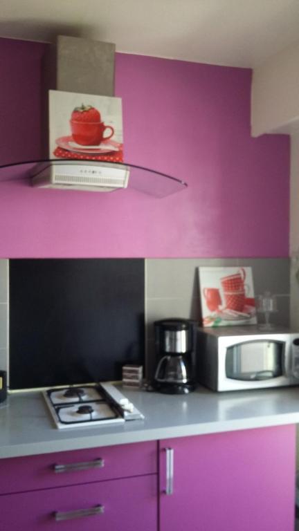 A kitchen or kitchenette at Studio ferber