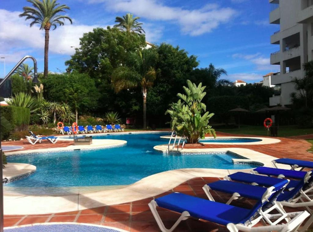 The swimming pool at or near Puerto Banus with private garden