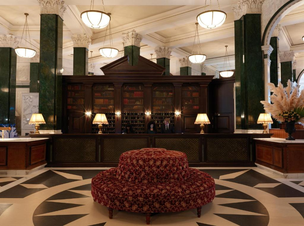 The hotel reception at The Ned.