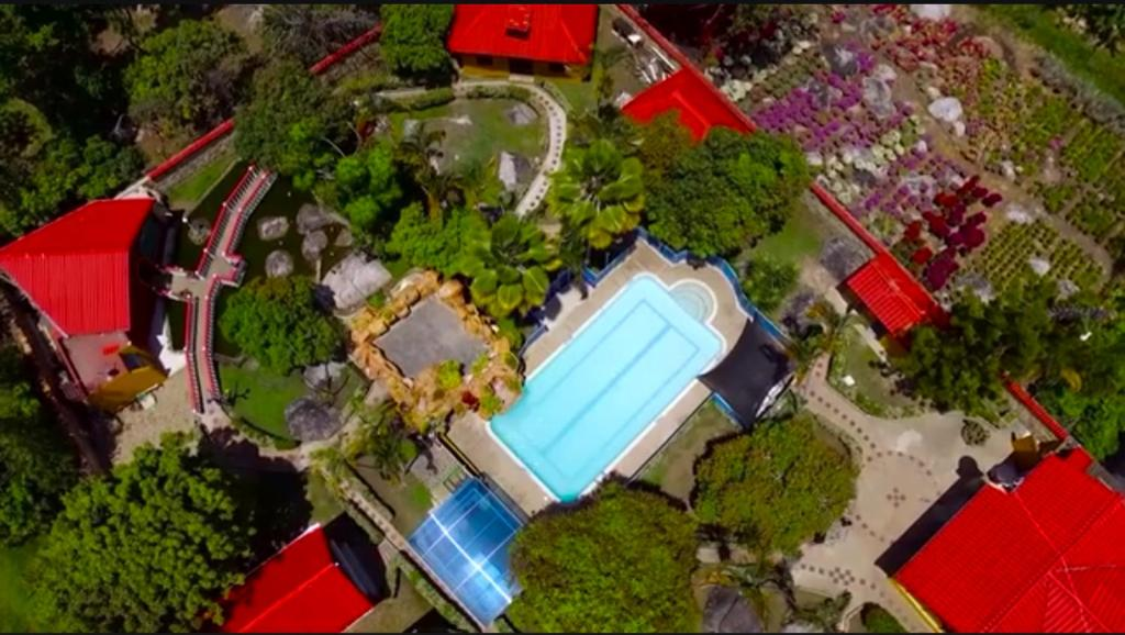 A bird's-eye view of Finca Villa Alegria