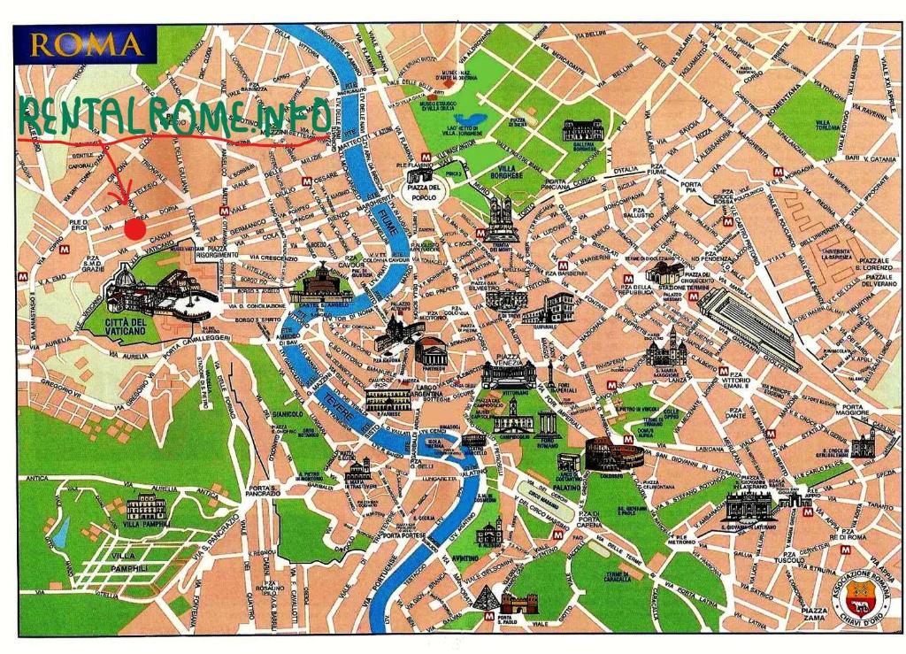 Roma Cartina Centro Storico.Mappa Roma Monumenti Da Scaricare Bigwhitecloudrecs