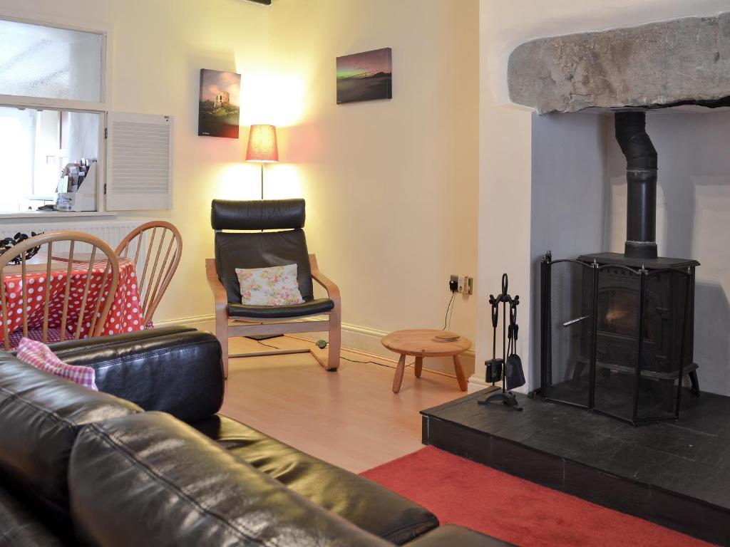 A seating area at Cwm Yr Afon